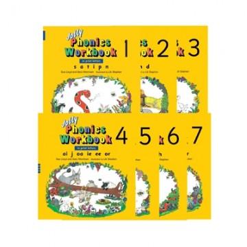 Jolly Phonics Workbook Set Book 1 to 7 - Print